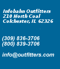 Infobahn Outfitters, 211 S. McArthur, Macomb IL 61455 - (309)836-3706 - (800)839-3706 - info@outfitters.com